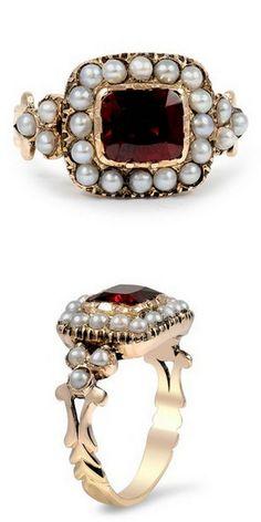 Garnet & Pearl Anneke Ring