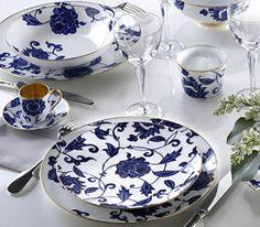 Prince Blue by Bernardaud. From ChinaRoyale.com