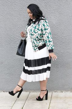 ae3a133239919 Pattern Mixing with Oversized Stripes   Florals - Beauticurve Plus Size  Inspiration
