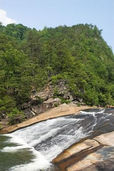Tallulah Gorge GA functions as a natural Slip 'n' Slide. Keep in mind that you'll need to obtain a free Gorge Floor Pass to reach the fall...