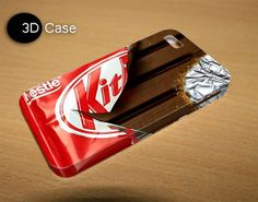 kit kat 3D iPhone Cases for iPhone 4iPhone by LetitaDesign