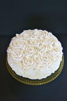 Vanilla Rose cake with vanilla pastry cream