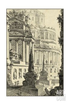 Vintage Roman Ruins III Giclee Print by Giovanni Piranesi at Art.com