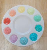 Edible Paint -- food dye mixed into sour cream.  BRILLIANT!  For when you want to get really fancy with your bento lunch.