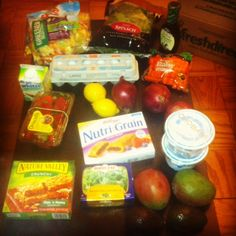 "Check out my grocery list and let's discuss what it means to eat a ""clean"" diet""."