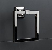 Dillon Towel Ring in Polished Chrome to be installed on the wall to the right of the sink area. Storage Mirror, Bath Storage, Guest Bathrooms, Master Bathroom, Bathroom Ideas, Downstairs Bathroom, Small Bathroom, Bathroom Renos, Washroom