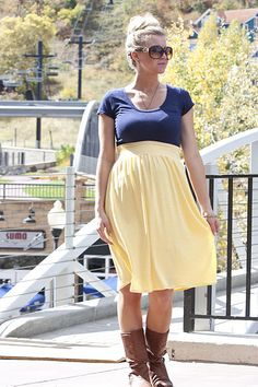 Elle Apparel: Tied and True Skirt Maternity skirt tuto Maternity Sewing, Maternity Skirt, Maternity Wear, Maternity Fashion, Summer Maternity, Maternity Clothing, Maternity Style, Maternity Tops, Bump Style