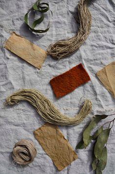 Natural dyeing with eucalyptus leaves by Elizabeth Leslie of Mujo, www.mujostore.com