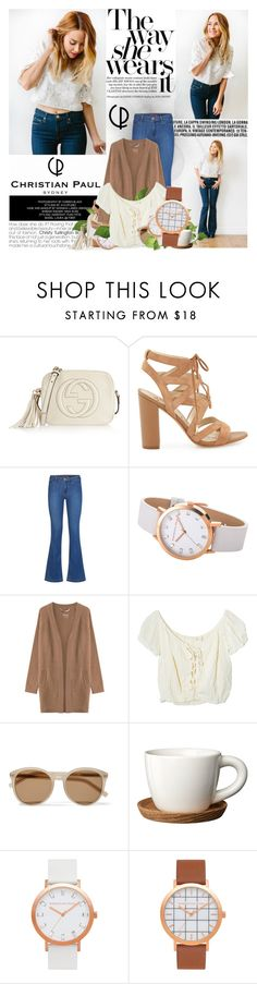"""Just because it isn't happening right now doesn't mean it never will."" by mars ❤ liked on Polyvore featuring Gucci, Sam Edelman, Comptoir Des Cotonniers, 81hours, Jens Pirate Booty, Yves Saint Laurent and Höganäs Ceramic"