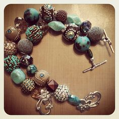 Quick jewelry project with Jesse James Beads. #jewelryproject #jessejamesbeads #unusual beads