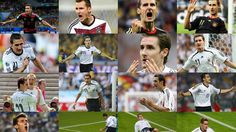 2014 FIFA World Cup™ - Photos - FIFA.com combination of pictures of goals shows Germany's forward Miroslav Klose becoming the leading all time World Cup goal scorer after scoring in the semi-final of the 2014 FIFA World Cup against Brazil in Belo Horizonte on July 8, 2014