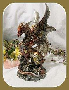 """New Goodies Just In...Steampunk """"Power ...  http://mystical-moons-at-the-auctions.myshopify.com/products/steampunk-power-of-the-dragon-statue?utm_campaign=social_autopilot&utm_source=pin&utm_medium=pin Come Discover Your Mystical Side"""