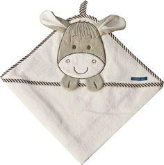Kaputzentuch mit süßer Esel-Stickerei auf der Kapuze - Geschenk fürs Baby