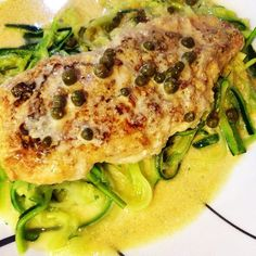 """Chicken piccata over zucchini noodles #lowcarb #diabetes friendly"" Photo taken by @thefirehousegourmet on Instagram, pinned via the InstaPin iOS App! http://www.instapinapp.com (10/01/2015)"
