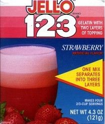 Jello 123....mom made this stuff in those Tupperware parfait cupswe thought it was DIVINE!!