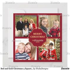 Red and Gold Christmas 4 Square Photos Collage Holiday Card Send your family and friends an elegant Christmas card with your favorite photos. Flip the card over to reveal a beautiful damask pattern on the back of the card. 8x8 Scrapbook Layouts, Baby Scrapbook Pages, Baby Boy Scrapbook, Simple Scrapbook Ideas, Scrapbooking Ideas, Wedding Scrapbook Layouts, Birthday Scrapbook Pages, Scrapbook Quotes, Scrapbook Titles