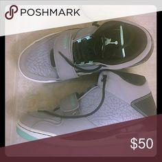 Jordans Nike Jordan gray, black and sea green V VI III Men's. Only worn twice. Nike Shoes Sneakers