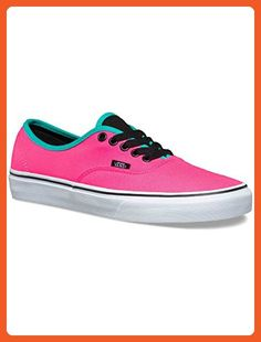 Vans Unisex Authentic Brite Skate Shoes-Brite Neon Pink/Black-6-Women/4.5-Men - Sneakers for women (*Amazon Partner-Link)