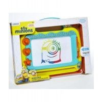 Minions Medium Magnetic Drawing Board Create your own rescue masterpiece with this fun Minions Magic Scribbler! The magic scribbler is a great way to encourage creativity and get drawing, plus it's also easy to use! Featuring an easy carry handle so you can take your scribbler everywhere you go! Comes complete with a pen and four fantastic fun shaped stampers for added fun. 3 years +  www.kidswoodentoyshop.co.uk