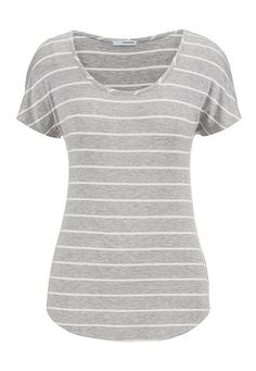 heather gray and white striped tee - maurices.com