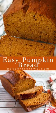 Best Pumpkin Bread Recipe, Starbucks Pumpkin Bread, Healthy Pumpkin Bread, Pumpkin Loaf, Savory Pumpkin Recipes, Pumpkin Dessert, Banana Bread Recipes, Pumpkin Spice Bread, Gluten Free Pumpkin Bread
