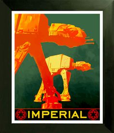 LIMITED EDITION Star Wars Fan Art Poster Imperial At-At