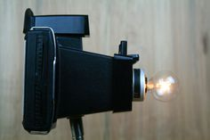 Funky Modern Upcycled  Camera Lamp  Polaroid by BuiltByBender