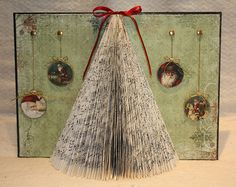 christmas tree altered book DIY steps by Morganised Chaos