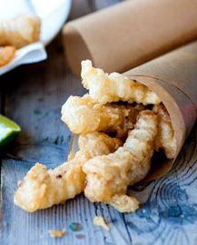 I'm Intrigued: Crispy fish fingers in lemonade batter - Shaun Rankin - a fun snack for kids and adults alike.