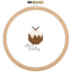 Christmas pudding Cross stitch pattern / cross stitch chart / cross stitch PDF pattern / instant download by CraftwithCartwright on Etsy www.etsy.com/shop/craftwithcartwright Use code PIN10 to get 10% off in my Etsy shop