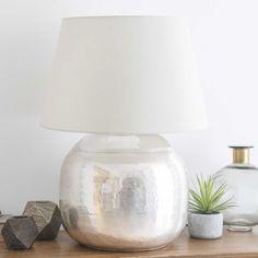 chased metal lamp H 68cm | Maisons du Monde
