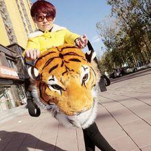 Хороший подарок! 2015 новый новинка прохладный огромный роскошные тигр глава белый тигр глава стиль сумка рюкзак тигр сумки G0294(China (Mainland))
