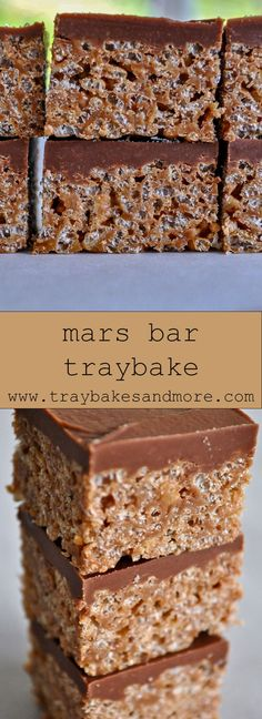 Tray Bake Recipes, Fudge Recipes, No Bake Desserts, Baking Recipes, Cake Recipes, Baking Ideas, Traybake Cake, Traybake Ideas, Mars Bar Crispy Cake