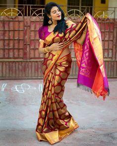 "@cinemakaaran_ck: ""#Nivisha ❤️ Follow @cinemakaaran_ck for more pics"" Glam Photoshoot, Indian Beauty Saree, Beautiful Saree, Style Inspiration, Design, Instagram, Fashion, Moda, Fashion Styles"