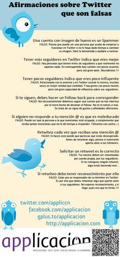 Afirmaciones falsas sobre @Twitter. #infografia #infographic #SocialMedia