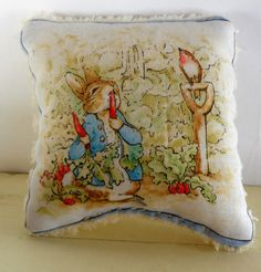Doll Pillows, Peter Rabbit, Beatrix Potter, Set of 2 Pillows, All Natural, Eco Kids Toy on Etsy, $16.00