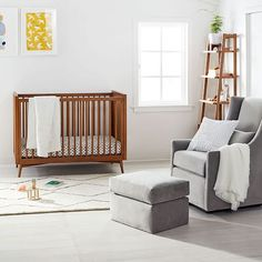 Brought to you in collaboration with Pottery Barn Kids, our GREENGUARD-certified Mid-Century Nursery Collection combines timeless style with durable craftsmanship.