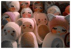 Chickabiddy  Sock Animals by chickabiddybaby on Etsy, $20.00