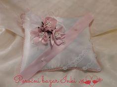 pink wedding ring pillow