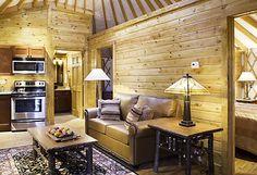 Yurt Living Room - Shenandoah Crossing™ by OutdoorTraveler, via Flickr