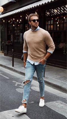 men's street style outfits for cool guys Mens Fashion Summer Outfits, Street Style Outfits, Mens Fashion Suits, Casual Outfits, Outfit Hombre Formal, Urban Fashion, Trendy Fashion, Fashion Ideas, Fashion Casual