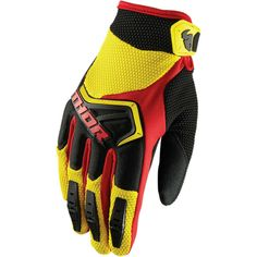 NEW ANSWER RACING ROCKSTAR RED//BLK MX ATV OFF ROAD GLOVES SZ X-LARGE