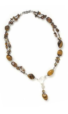 Jewelry Design - Double-Strand Necklace with Tigereye Gemstone Beads - Fire Mountain Gems and Beads
