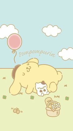 Sanrio Wallpaper, Soft Wallpaper, Kawaii Wallpaper, Cute Wallpaper Backgrounds, Wallpaper Iphone Cute, Cute Cartoon Wallpapers, Kawaii Chibi, Kawaii Cute, Sanrio Characters