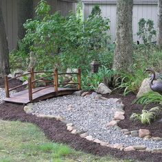This is another project of mine. A dry pond/creek bed.