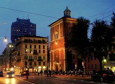 Milano Corso di Porta Romana, Basilica di San Nazaro in Brolo e Torre Velasca - Novembre 2011 by mario_ghezzi, via Flickr
