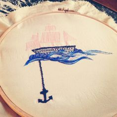 Work in progress #mhbrode #broderie #embroidery #ancre #anchor #bateau #boat #tattoo #tatouage #diy