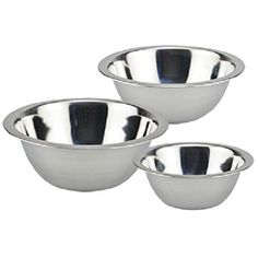 3 Pc. Stainless-steel Mini Mixing Bowls >>> Huge price off! : Mixing bowls baking