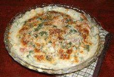 pumpkin tomato gratin かぼちゃとトマトのクリーミーグラタン (pumpkin, milk, tomato, sausage, parsley, cheese)