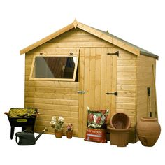 8X6 Durham Apex Shiplap Wooden Shed   Durham, Green Houses And Tree Houses